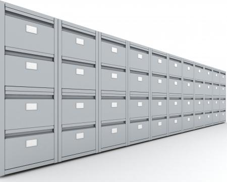 filing cabinet: 3D Render of a Filing Cabinet