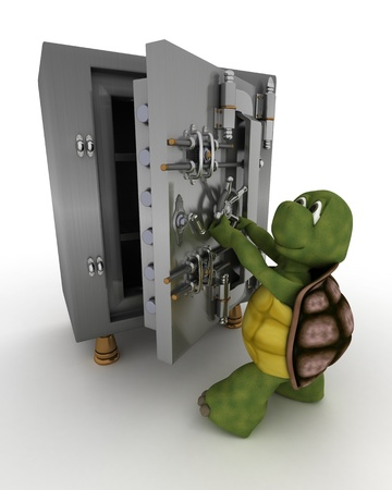 3D render of a tortoise photo