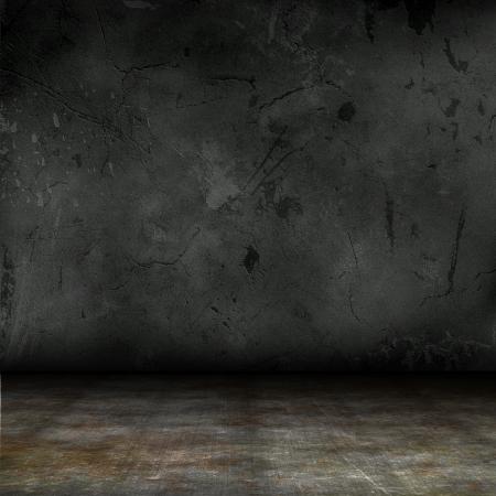 dark interior: Dark interior with grunge concrete walls and floor