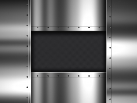 Shiny metal plate and carbon fibre background Stock Photo - 19446810