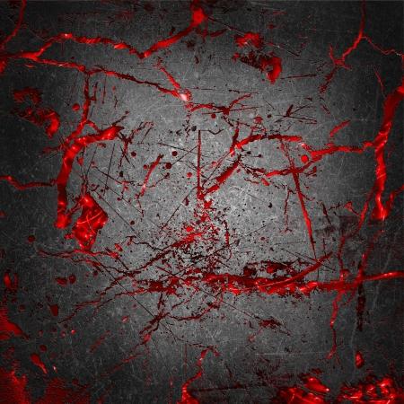 gory: Grunge calcestruzzo fessurato con cruenti sfondo rosso sotto