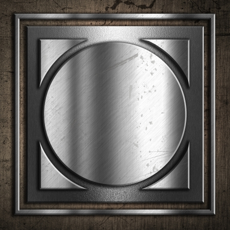 Abstract grunge background with a metallic design Stock Photo - 20881374