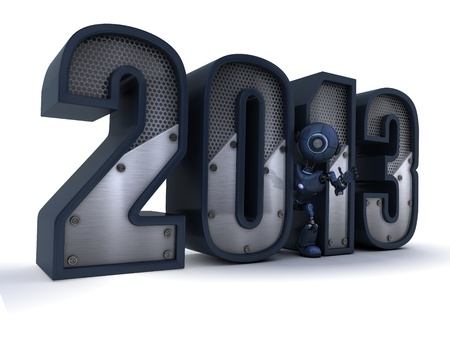 3D Render of celebrating new year photo