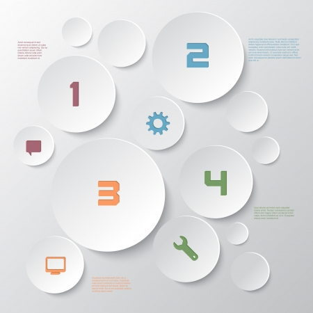 Modern design for infographics options background photo