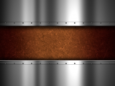 Shiny metal plate and grunge background Stock Photo - 22123157