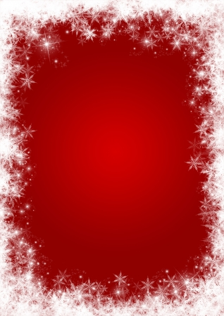 holiday border: Christmas background with a snowflakes and stars border