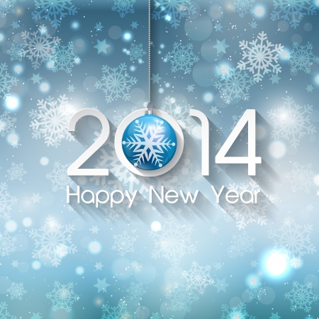 Happy new year background with Christmas bauble Stock Photo - 23791975