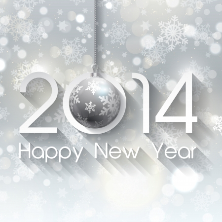 happy new year text: Decorative for Christmas and the New Year Stock Photo