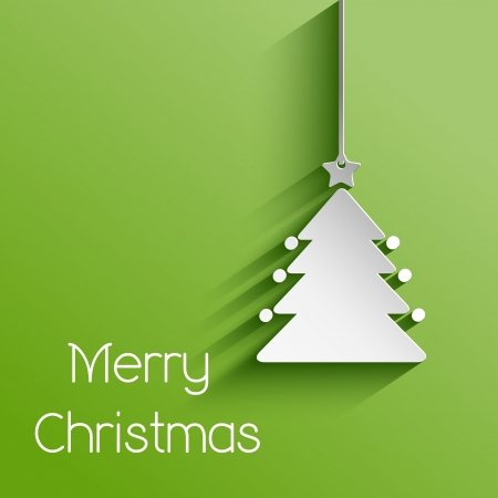 simplistic: Simplistic Christmas background with a hanging tree