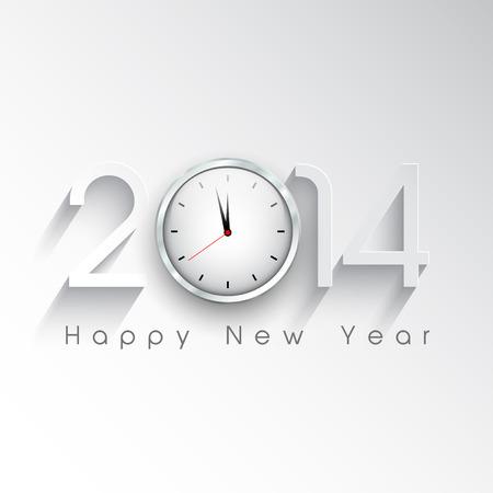 nouvel an: Happy New Year fond avec une conception de l'horloge Banque d'images