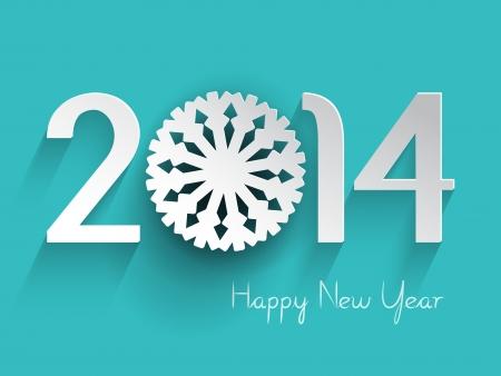 nouvel an: Happy New Year fond avec un flocon de neige