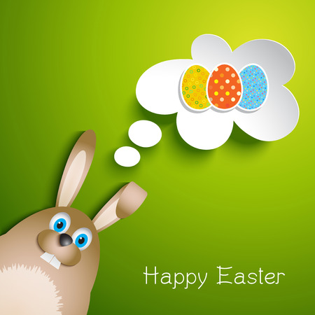 easter background: Cute Easter background with bunny design