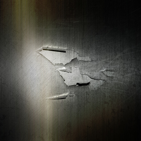 peeling: Grunge metallic background with a cracked and peeling effect Stock Photo