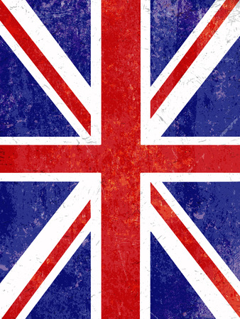 Union Jack flag background with a grunge effect Stock Photo