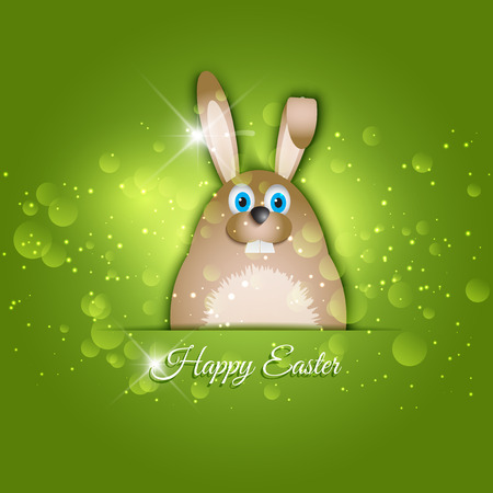 easter background: Easter background with rabbit design Stock Photo