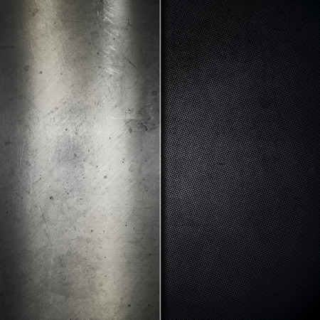 brushed metal: Grunge metallic background with scratches Stock Photo