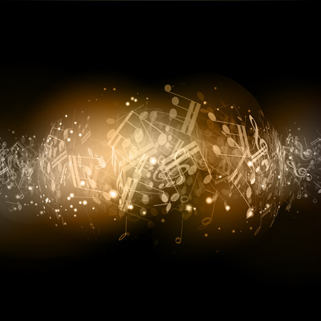 Abstract background with music notes photo