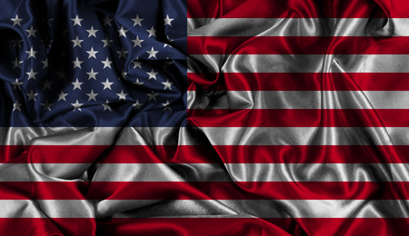 American flag background with folds and creases Stock fotó
