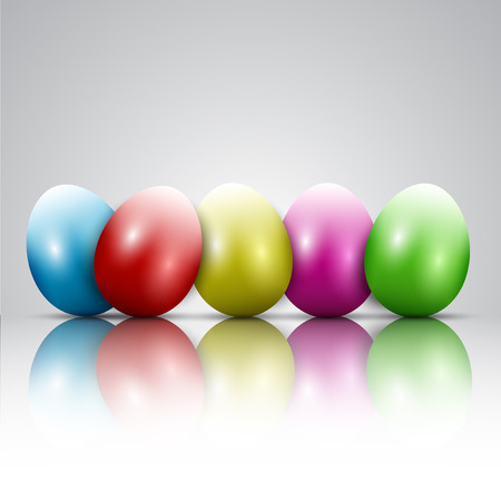 easter background: Easter background with colourful eggs