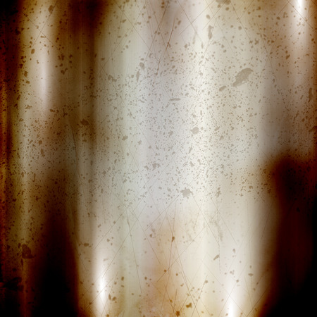dint: Detailed rusty background with a brushed metal effect and scratches and dints Stock Photo