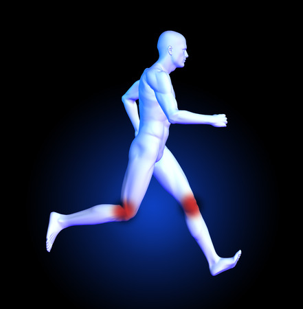 keep fit: 3D render of a medical man running Stock Photo