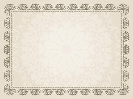 証明書の設計の装飾的な背景