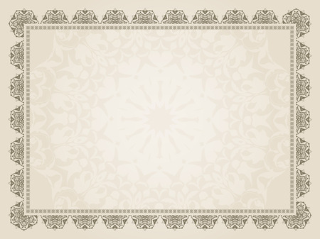 Arrière-plan décoratif d'une conception de certificat Banque d'images - 28063010