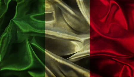 flag background: Italian flag background with folds and creases and a grunge effect
