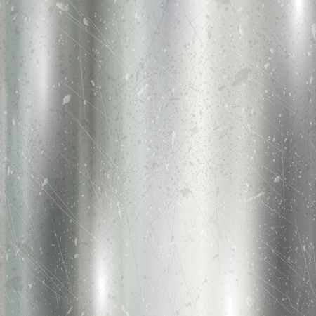dint: Detailed metallic background with a brushed metal effect and scratches and dints