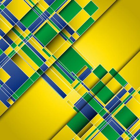 world cup: Abstract design background using Brazil flag colours Stock Photo