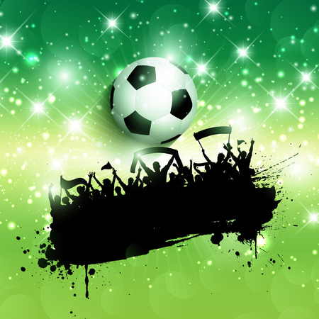 Grunge style background of a football  soccer crowd background