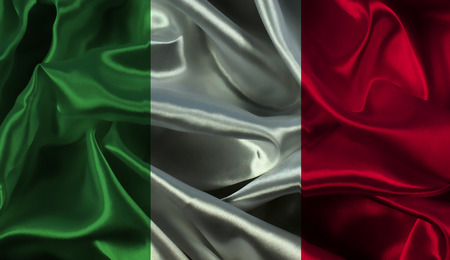 flag background: Italian flag background with folds and creases
