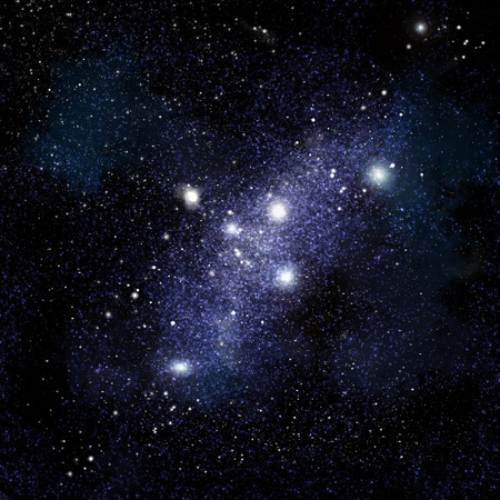 starfield: Abstract space background with stars and starfield Stock Photo