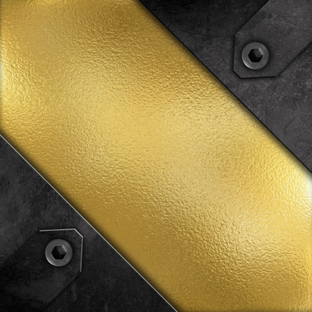 dint: Abstract metallic background with a grunge effect and bronze metal Stock Photo