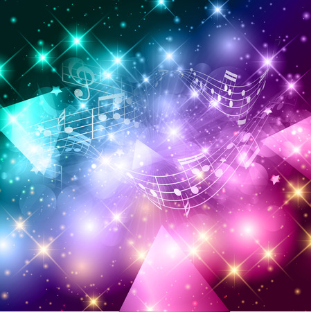 abstract music background: Abstract background with music notes design