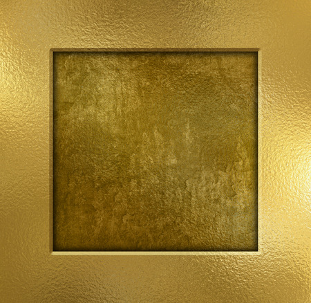 bronze texture: Gold metal frame on a grunge background
