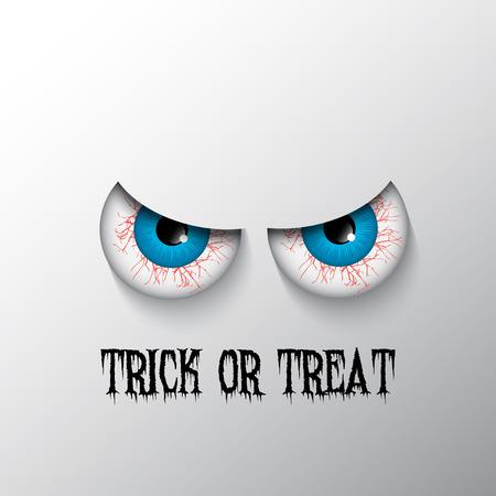 b�se augen: Trick or treat Halloween-Hintergrund mit b�sen Augen Lizenzfreie Bilder