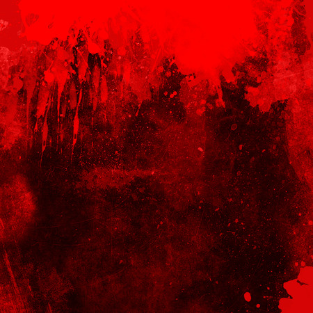 Red grunge background with splats and drips