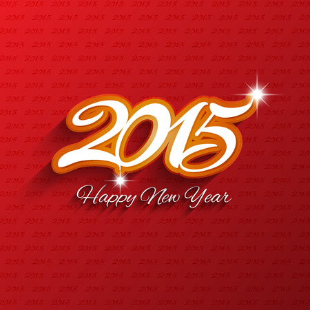 eps10: Decorative type background for the new year Stock Photo