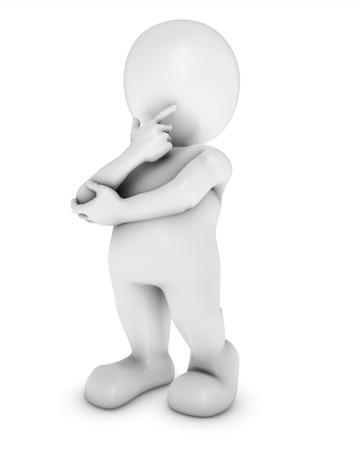 3D Render of Morph Man thinking