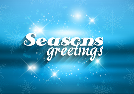 Christmas background with the words Seasons greetings