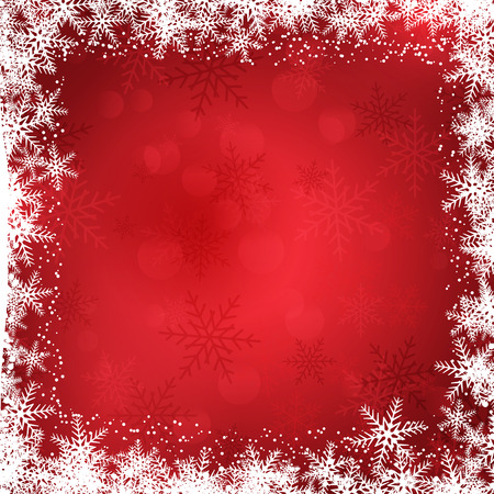 Decorative Christmas background with snowflake border