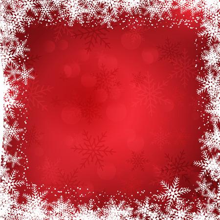 snowflakes: Decorative Christmas background with snowflake border