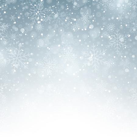 Decoración de fondo de Navidad, con copos de nieve