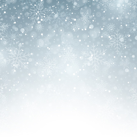 stars background: Decorative Christmas background with snowflakes Stock Photo