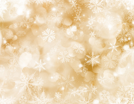 Decorative Christmas background with snowflakes and stars