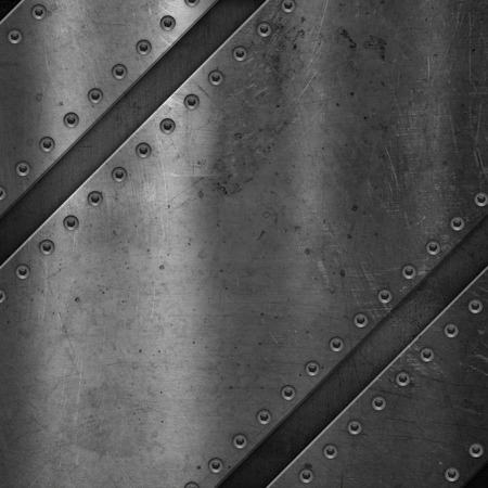 scratched: Metallic background with scratched grunge effect and screws