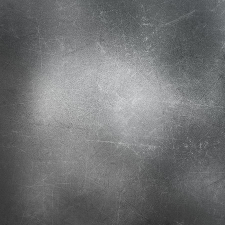 stainless steel: Metallic background with scratches and stains Stock Photo
