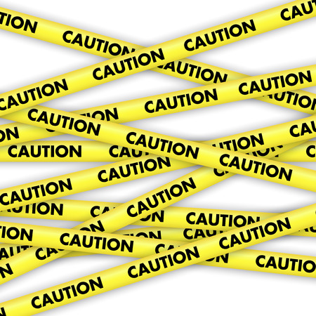 caution tape: Background with lengths of yellow tape with caution written on it
