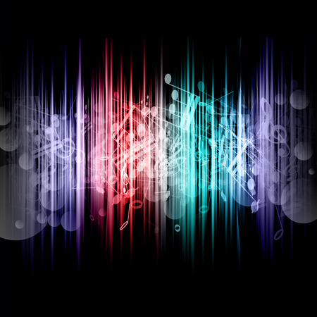 Abstract background with music notes design